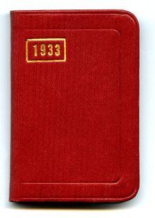 Free 1933 Diary Stock Photography - 3617512