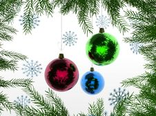 Free Christmas And New Year 3D Royalty Free Stock Image - 3617816