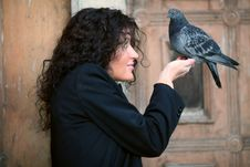Free Lady & Pigeon Stock Images - 3618594