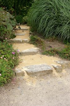 Old Stone Garden Path Royalty Free Stock Images