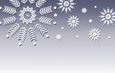 Free Blue Snowflake Background Border Royalty Free Stock Image - 3619946