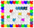 Free 10 Jigsaw Drop-down Puzzle  2014 -Your Text Royalty Free Stock Photos - 36105818