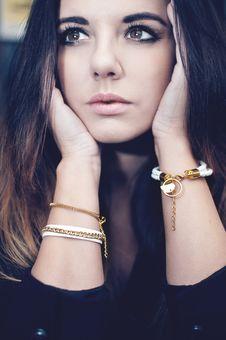 Free Beautiful Brunette Portrait Stock Images - 36100144