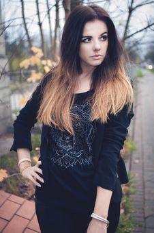 Free Beautiful Brunette Portrait Stock Photos - 36100483
