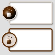 Free Text Frame With Cup Of Coffee Royalty Free Stock Image - 36100706