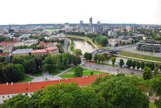 Free View From The Gediminas' Tower To The Center Of Vilnius Royalty Free Stock Photos - 36100868