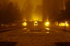 Free Park At Night. Royalty Free Stock Photo - 36103985