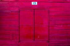 Free Vintage Red Window Stock Photography - 36106082