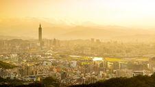 Taipei Cityscape Stock Photo