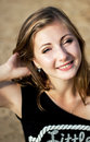Free Beauty Face Of Happy Smiling Woman In Yellow Sunny Beach Royalty Free Stock Photos - 36114848