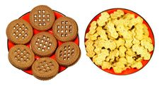 Free Two Types Of Cookies Royalty Free Stock Photo - 36113735