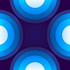 Free Abstract Blue Paper Circles Background Stock Images - 36115134