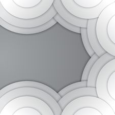 Free Abstract Grey Paper Circles Vector Background Stock Photos - 36115193