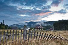 Village In The Carpathians Stock Images