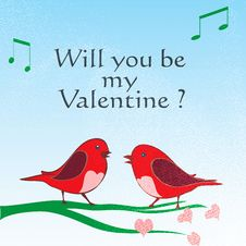 Valentine Love Birds Stock Photos