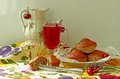 Free Muffins, Cold Drink And Cherry Royalty Free Stock Image - 36121336