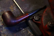 Pipe On Workbench Stock Image