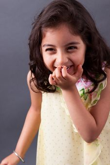 Free East Indian Girl Laughing Stock Photography - 36125652