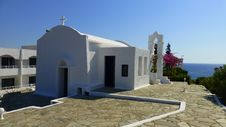 Free WHITE CHURCH, CRETE, GREECE Stock Images - 36126124