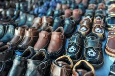 Free Rows Of Kids Shoes At A Swap Meet Royalty Free Stock Photography - 36127487