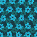 Free Sketchy Blue Flower Pattern Stock Image - 36135501