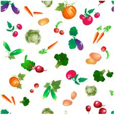 Free Vegetables And Roots Seamless  Pattern Royalty Free Stock Photo - 36133345