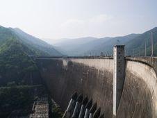 Concrete Dam Stock Photography