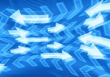 Free Blue Arrows Background Royalty Free Stock Image - 36134196
