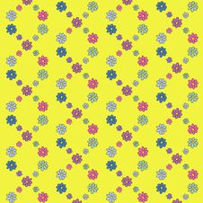 Colorful Hand-Drawn Flower Pattern Royalty Free Stock Photography