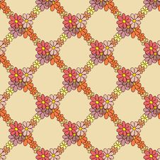 Free Flower Net Pattern On Beige Background Stock Photos - 36135403