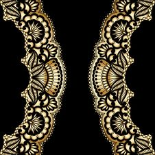 Free Vector Gold Ornament. Royalty Free Stock Photos - 36135598
