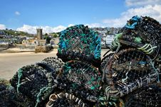 Free Lobster Pots At St Ives Stock Photography - 36138182