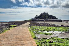 Free Along The Causeway ~ St Michael S Mount Royalty Free Stock Photography - 36138757