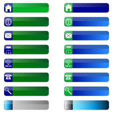 Banner Buttons Web Icons. Stock Photos