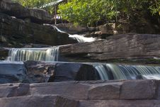 Free Waterfall On The Big Rocks Stock Images - 36139644