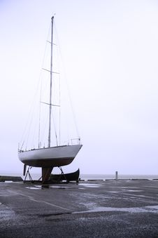 Free Sailboat In A Harbor Stock Photos - 36139973