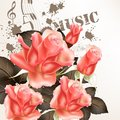 Free Beautiful Floral Background With Butterflies And Roses Royalty Free Stock Photo - 36148135
