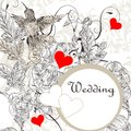 Free Elegant  Wedding Invitation Card With Roses And Bird Stock Images - 36148344