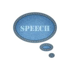 Free Jeans Texture Background. Speech Bubble Stickers. Stock Photos - 36142683
