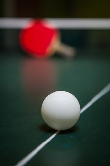 Free Table Tennis Royalty Free Stock Photo - 36147655