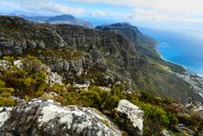 Free Rock And Landscape On Top Of Table Mountain South Af Stock Image - 36149531