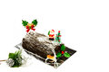 Free Christmas Log Cake Royalty Free Stock Photos - 36151108