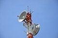 Free Radio Relay Antennas Stock Images - 36151654