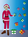 Free Christmas Elf With Gifts Royalty Free Stock Photo - 36159855