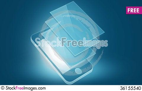 Free Phone Blank Template Stock Photo - 36155540