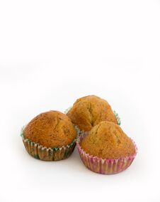Free Banana Cup Cake Royalty Free Stock Photography - 36150187