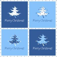 Free Funny Christmas Tree In Blue Stock Images - 36150254