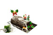 Free Christmas Log Cake Royalty Free Stock Photos - 36151108