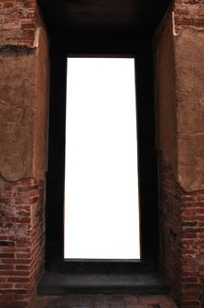 Free Ancient Brick Door Stock Images - 36152114