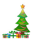 Free Christmas Trees With Gifts Royalty Free Stock Photos - 36164498